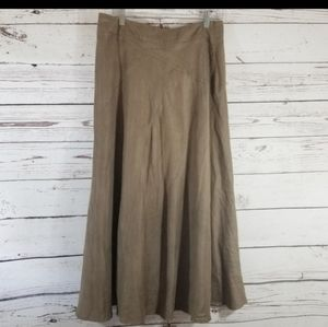 EAST 5TH FAUX SUEDE FAWN TAN SKIRT size 12